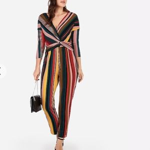 NWT Express Stripe Long Sleeve Jumpsuit